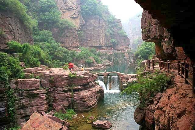 El Monte Yuntaishan Geopark de China