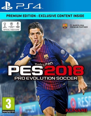 Pro Evolution Soccer 18 PS4 EUR PS4 PC Xbox360 PS3 Wii Nintendo Mac Linux