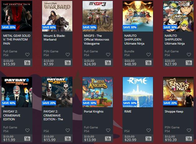 ps4 holiday sale 2017