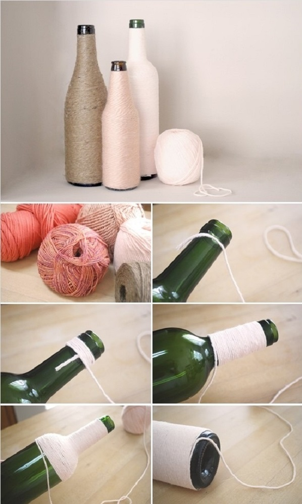 Ideas para decorar botellas y frascos de vidrio hazlo tu - Como decorar botellas de vidrio ...
