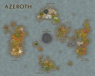 Mapa compuesto de todas las zonas de Azeroth en World of Warcraft