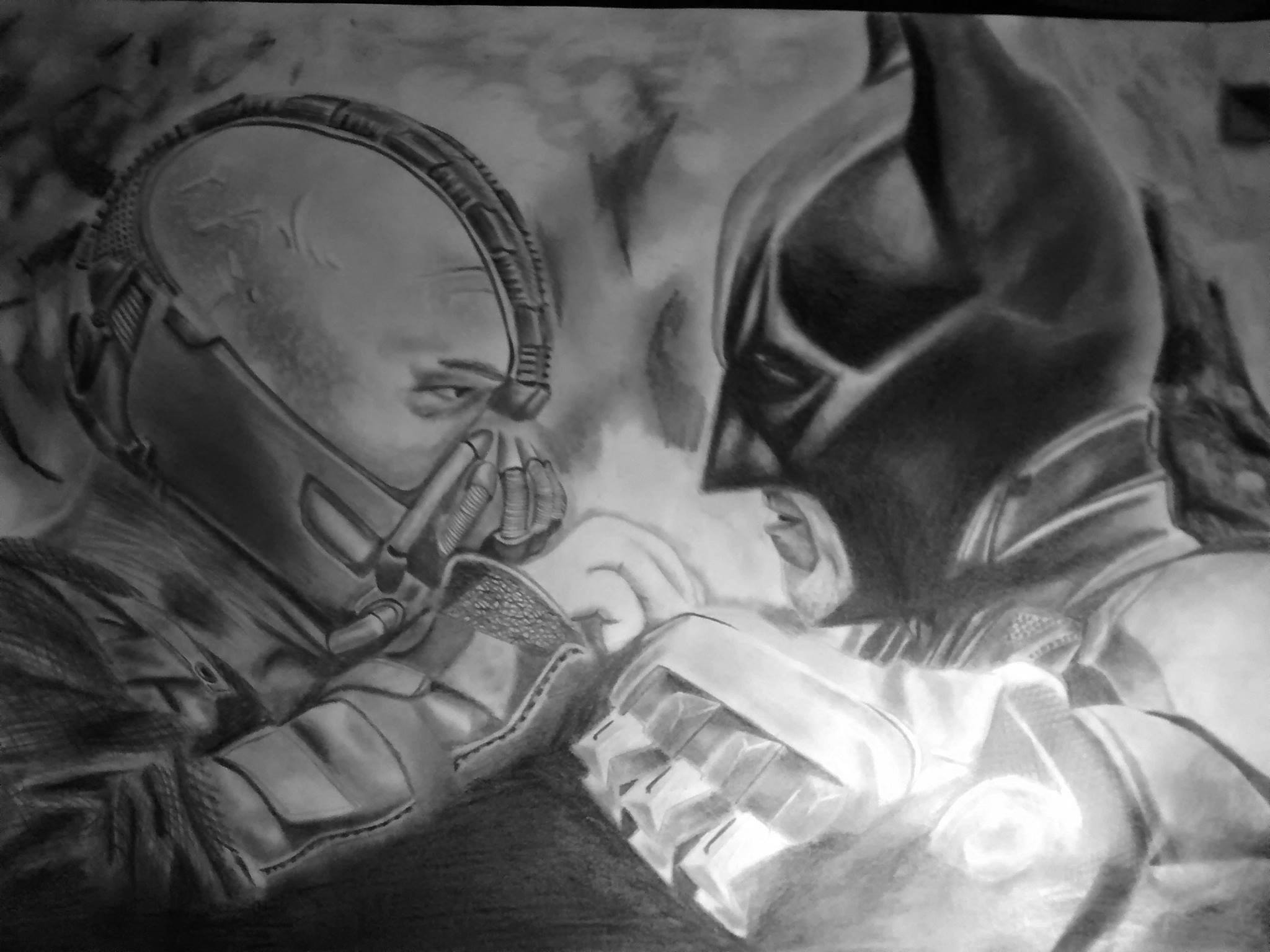 Dibujo Batman VS Bane