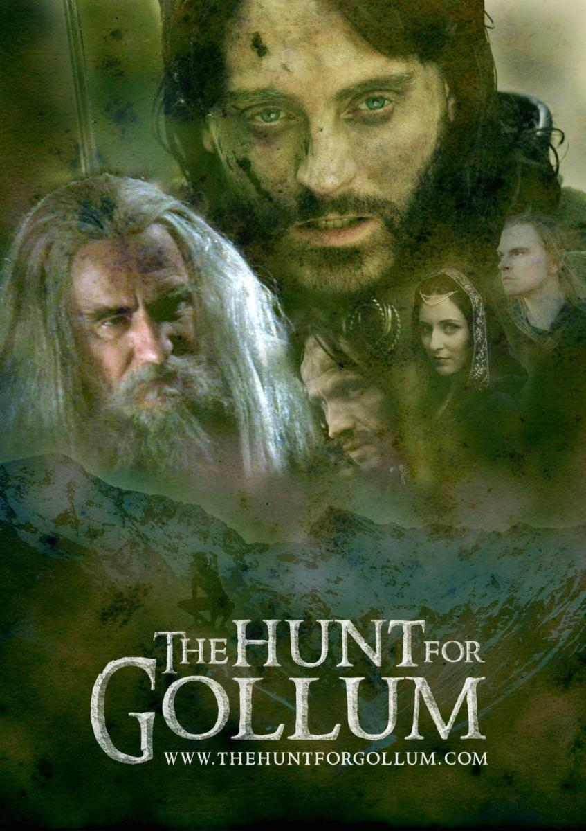 the hunt for gollum aragorn gandalf poster