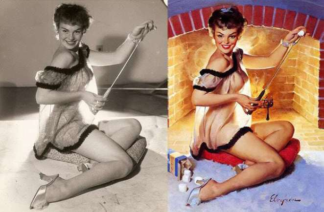 Asi manipulaban a las Pin Up Girls y hacerlas irresistibles