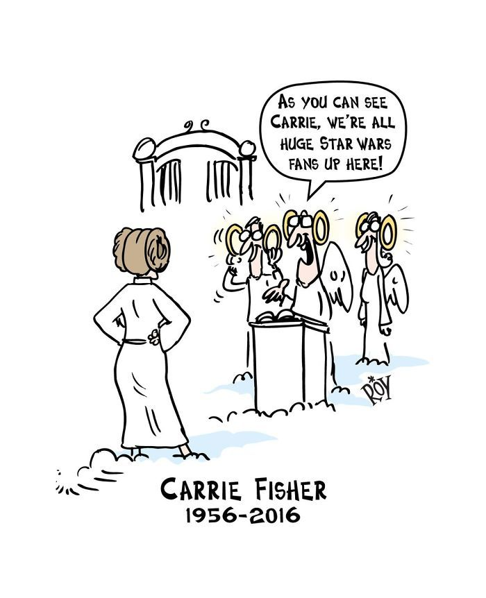 homenaje artistico a Carrie Fisher