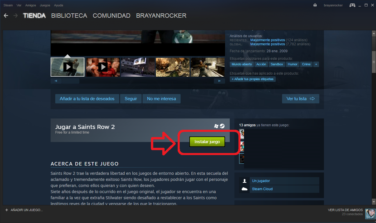 Saints row 2 gratis para steam