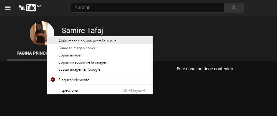Te enseño a ver fotos de usuarios en Youtube