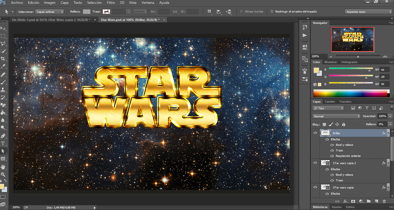 Diseño StarWars -- Photoshop