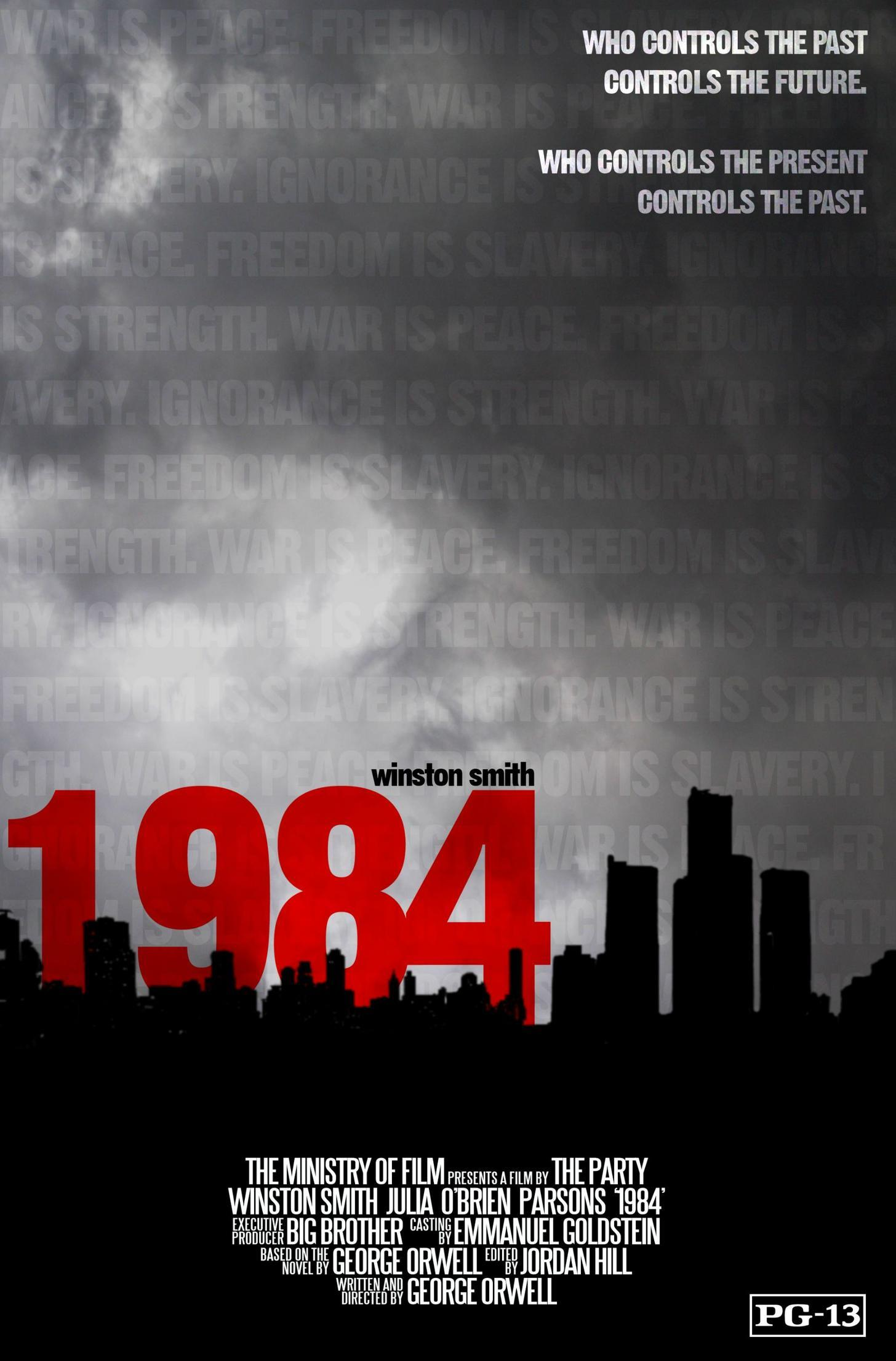 1984 the party controls the past In the book 1984 by george orwell, the party controls the past, present, and future as they alter historical records and effectively brainwash the population a character in this book named julia says, it's the one thing they can't do.