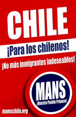 Nace en Chile movimiento nacionalista anti-inmigrantes
