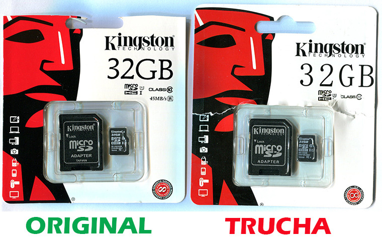 Memoria SD Kingston 32G Trucha vs. Original