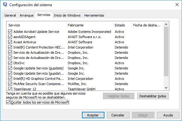 inicio rapido windows 10