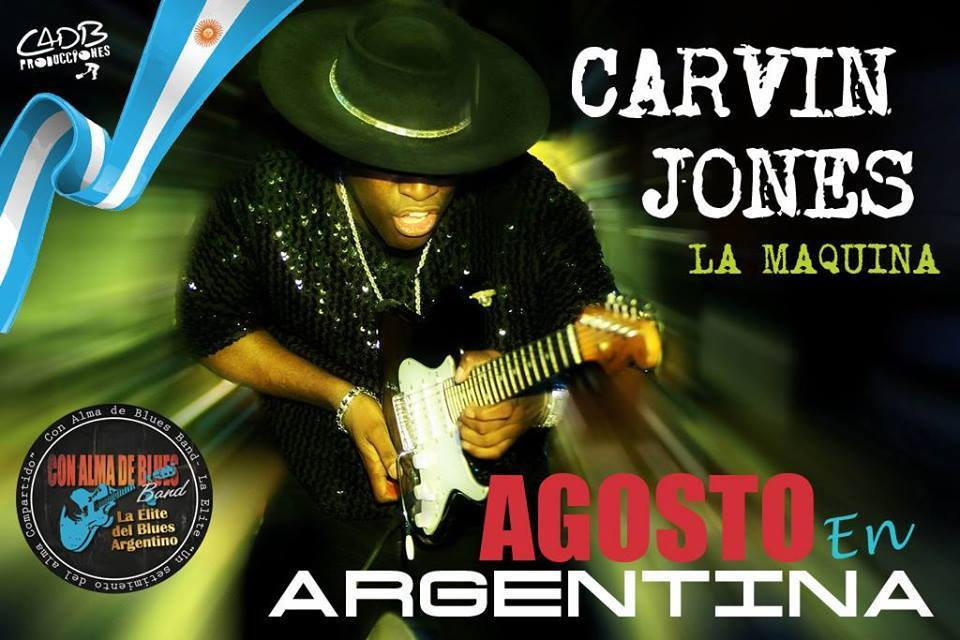 Carvin Jones este Domingo en Bs As !!