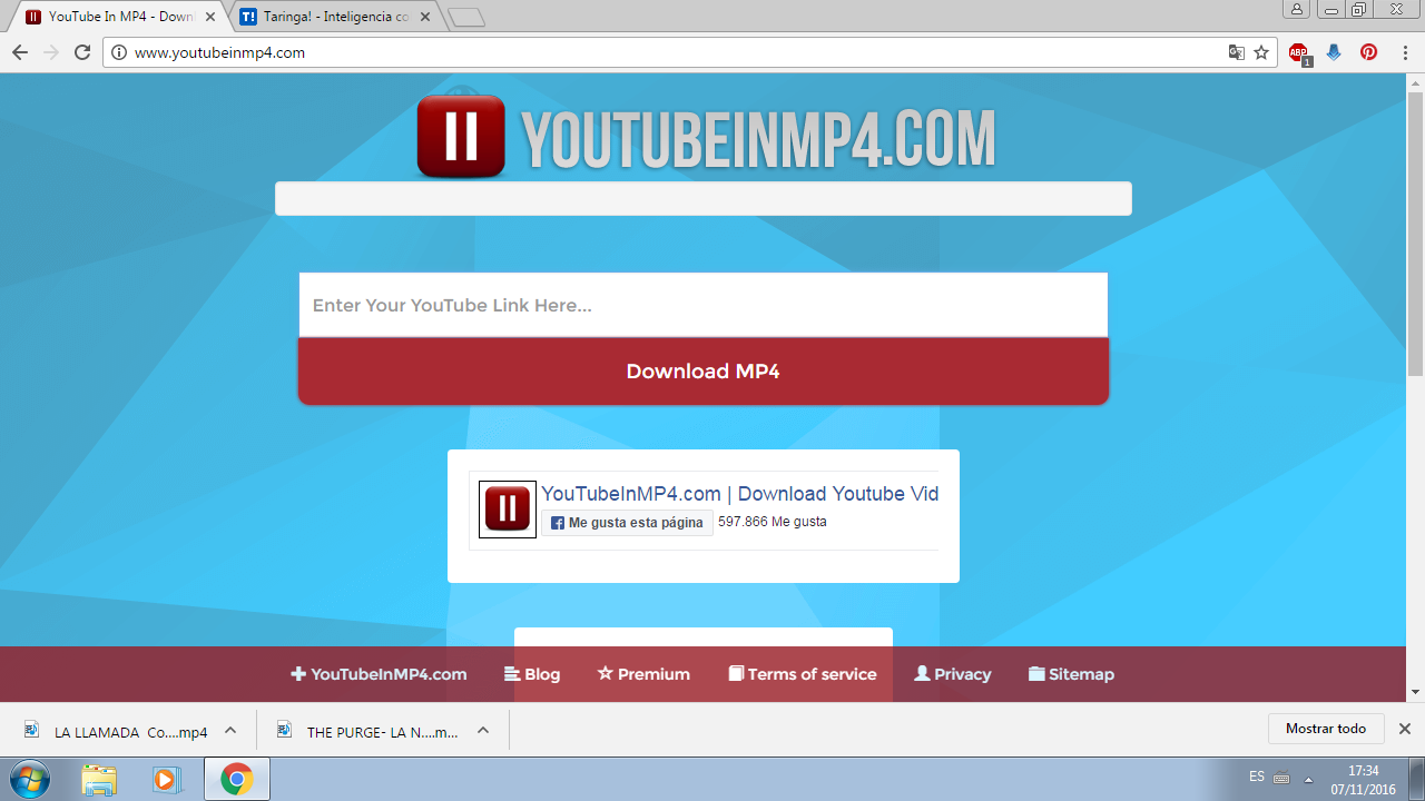 "El ojo de ""YouTube In MP4"""