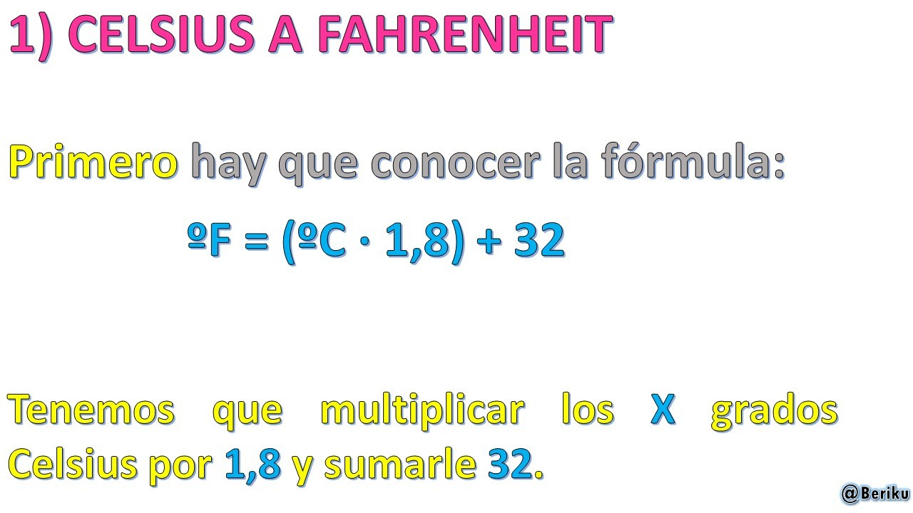 how to solve fahrenheit to celsius formula