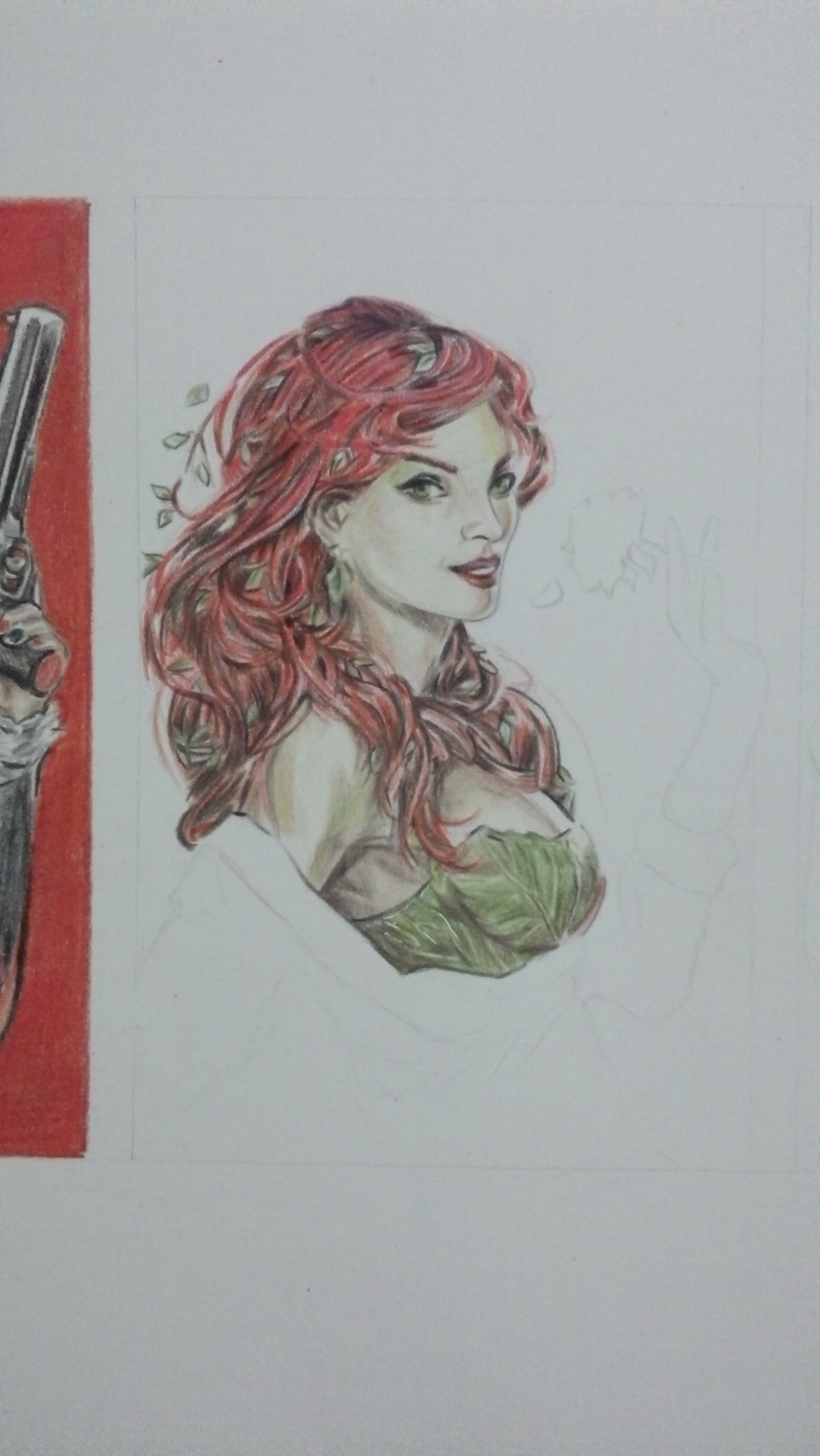 Dibujo de Harley Quinn, Poison Ivy, Catwoman