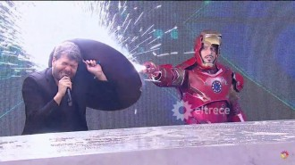 Estreno de Iron man VS Guido America