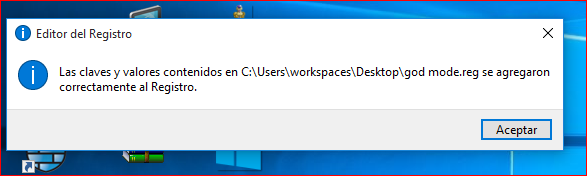 Modo Dios en Windows 10 (Transformacional real)