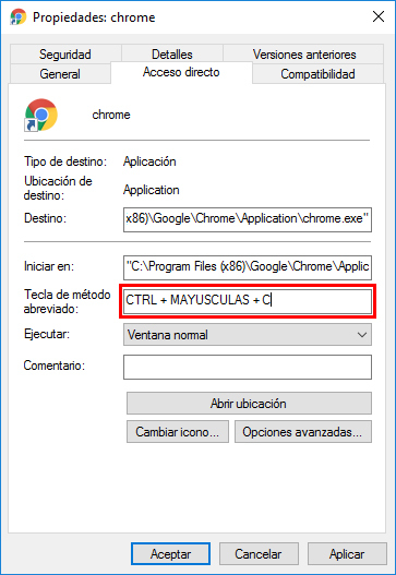 atajos con windows 10