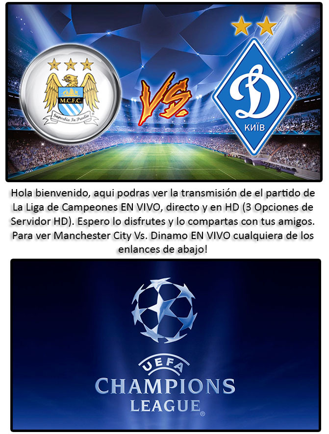 Manchester City Vs Dynamo - Champions League Streaming 15-03
