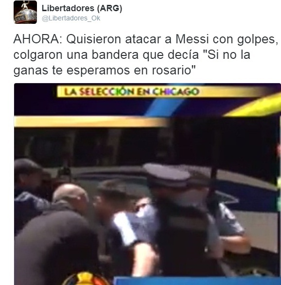 Agredieron a Messi y lo amenazaron