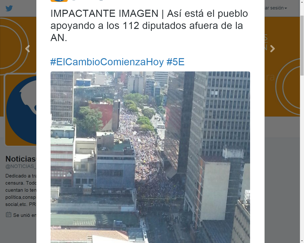 ¡Multitud presente!