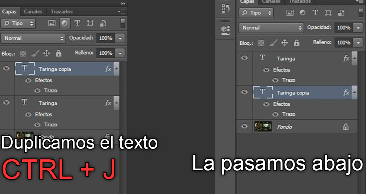 Photoshop hacer texto cool