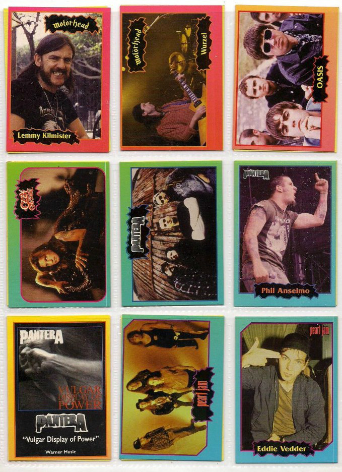 Album de figuritas: New Rock Cards (1997)