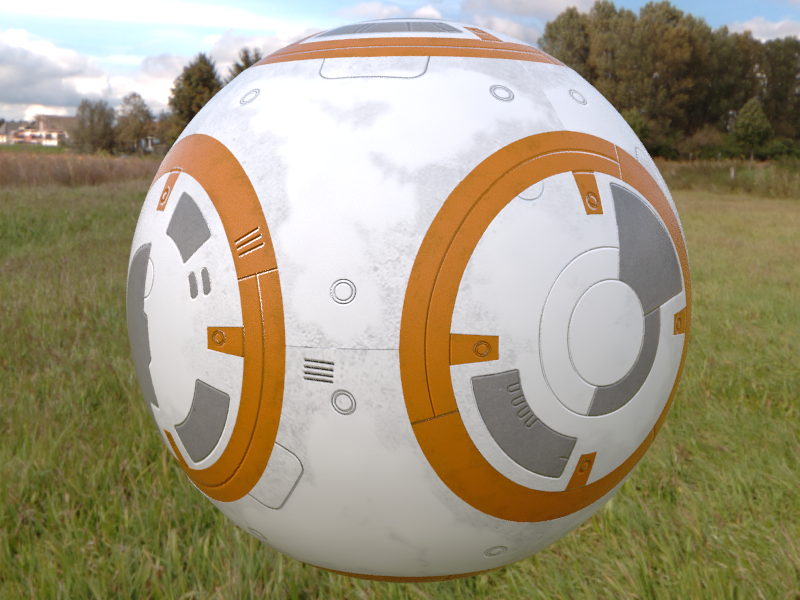 Star wars BB-8 (en progreso) 3ds max