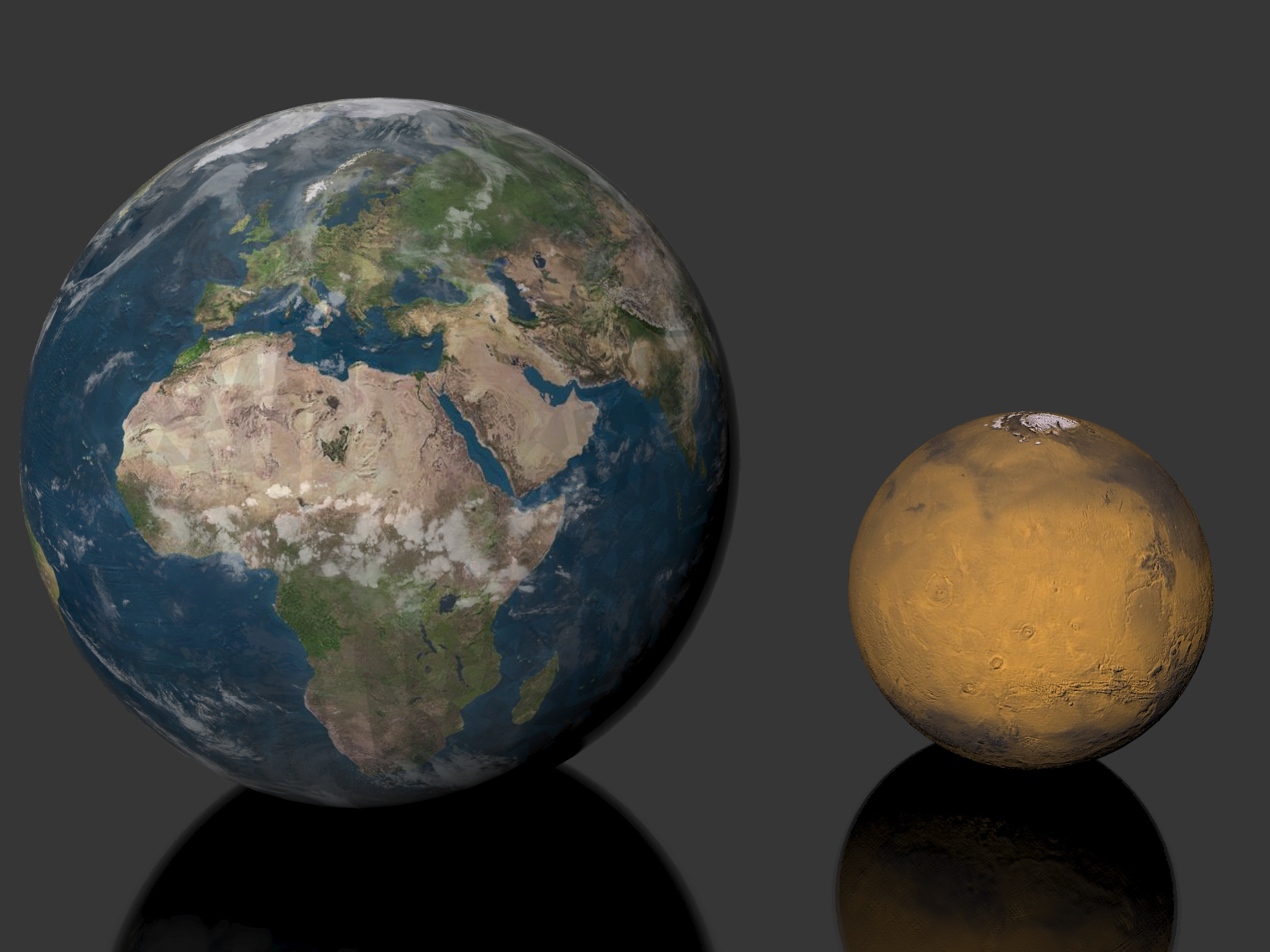pluto and earth - HD2048×1536