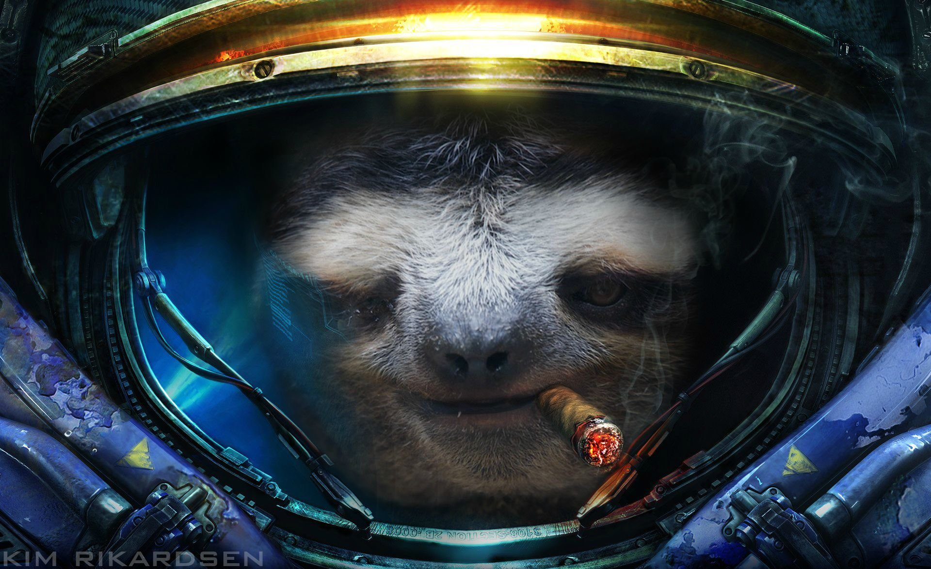 sloth astronaut picture - HD 1920×1080